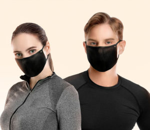 NAROO FU+Copper - Sports Mask for Cycling in Pollen, pollution, male and female model
